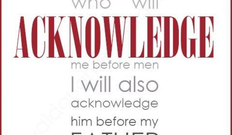 Scripture Memory Verse Matthew 10 32 33