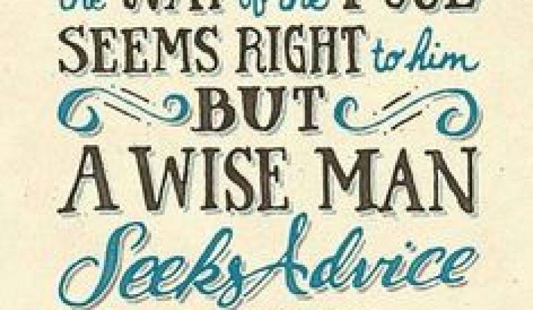 Scripture Memory Verse Proverbs 12:15  (4/20/18)