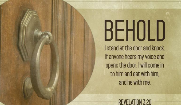 Scripture Memory Verse Revelation 3:20