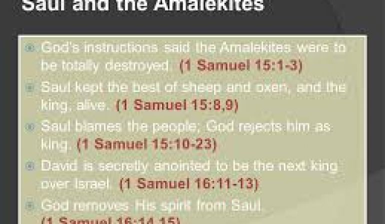 Friday Night Bible Study  1 Samuel Chapter 15:10-16 (6/15/18)