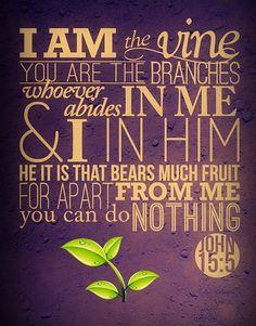 Scripture Memory Verse John 15:5 (6/29/18)
