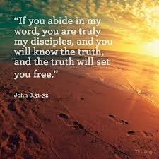 Scripture Memory Verse John 8:31-32 (6/15/18)