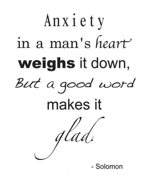 Scripture Memory Verse  Proverbs 12:25