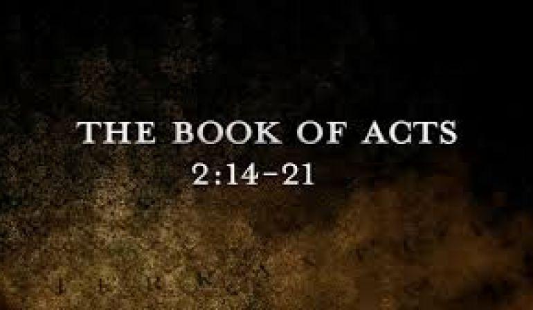 Acts 2 14-21 Sunday Sermon (9/30/18)