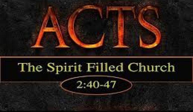 Acts 2 40-47 (10-21-2018) Sunday Sermon