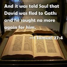 1 Samuel 26:20-27:7  Friday Night Bible Study (11-9-18)