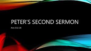 Acts 3  11-16  Sunday Sermon (11-4-2018)