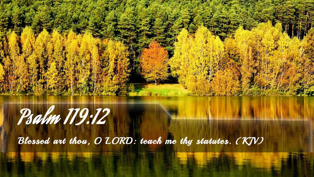 Psalms 119:12 Scripture Memory Verse (11-9-18)
