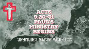 Acts 9  20-31 Sunday Teaching (5-12-2019) Pastor Greg Tyra