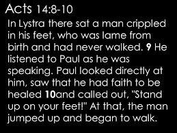 Acts 14 1-14  Sunday Teaching Greg Tyra, Pastor (8-11-19)