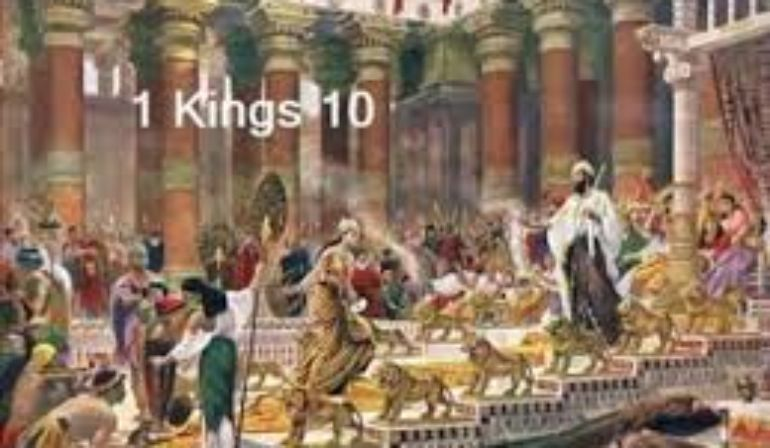 1 Kings 10 Friday Night Bible Study  (April 17, 2020)