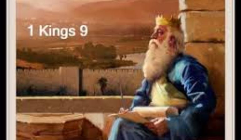 1 Kings Chapter 9  1-26 Friday  Night  Bible  Study 4/10/20