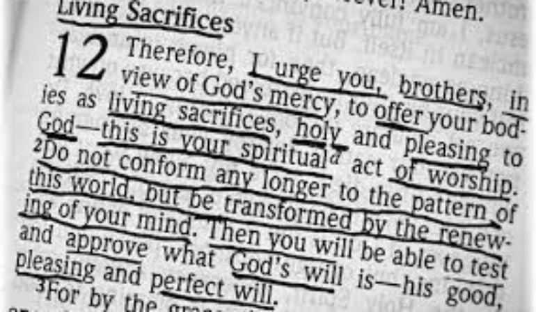 Romans 12  1-2 (10-11-2020)  Mike Degutis
