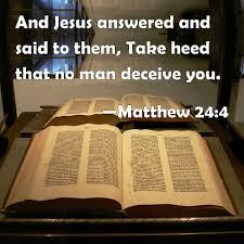 Matthew 24:4 Scripture Memory Verse (1-22-21) Pastor Greg Tyra