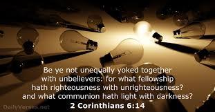 2 Corinthians 6:14 Scripture Memory Verse (2-12-21) Pastor Greg Tyra