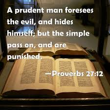 Proverbs 27:12 Scripture Memory Verse  (2/5/21) Pastor Greg Tyra