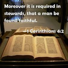 1 Corinthians 4:2 Scripture Memory Verse (3-5-21) Pastor Greg Tyra