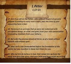 1 Peter  1-17-21 Sunday Teaching (4-4-2021) Pastor Greg Tyra