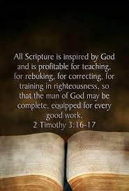 2 Timothy 3:16-17 Scripture Memory (4/30/21) Pastor Greg Tyra